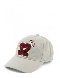 """Бейсболка серо-бежевая для мальчиков с шевроном """"32"""""""